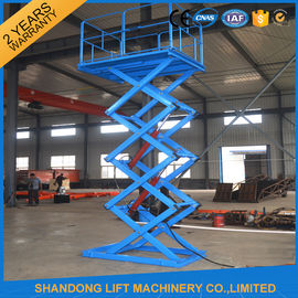 China CE 5.5kw Power Electric Stationary Hydraulic Scissor Lift for Warehouse Cargo Loading supplier