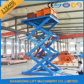 China Anti Skid Checkered Plate Stainless Steel Scissor Lift , Fixed Cargo Stationary Hydraulic Lift Platform supplier