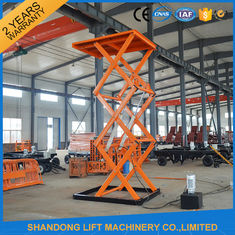 China Stationary Hydraulic Scissor Lift , 4.8m Height Material Loading Warehouse Industrial Lift Table supplier