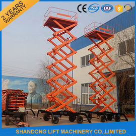 China Electric Hydraulic Lift Table , Mobile Aerial Work Lifting Platforms Equipment for Building Cleaning supplier