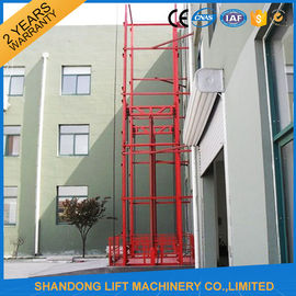 China Guide Rail Chain Hydraulic Elevator Lift , Home Cargo Double Cylinder Hydraulic Lift supplier