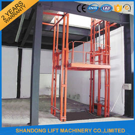 China 2.5 Tons Guide Rail Hydraulic Elevator Lift for Warehouse Cargo Loading CE supplier