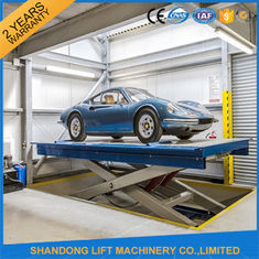 China Safety Stationary Hydraulic Scissor Car Lift for Home Garage Car Parking 3.3M Travel Height supplier