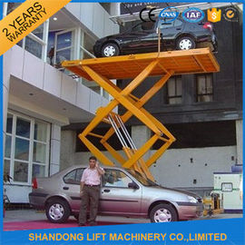 China Car / Vehicle / Truck Heavy Duty Hydraulic Scissor Car Lift Systems Explosion Proof supplier