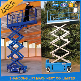 China 6m Electric Mini Scissor Lift Self Propelled Elevating Work Platforms CE ISO9001 SGS supplier