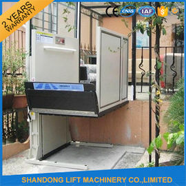 China 1m - 6m Home Vertical Wheelchair Lift ,  Exterior Residential Outside Elevators for Homes  supplier