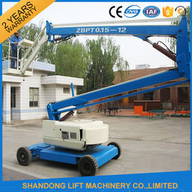 China 360 Rotation Self Propelled Trailer Mounted Boom Lift with Hydraulic Crank Arm supplier