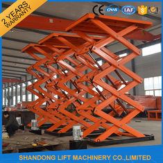 China Material Handling Warehouse Elevator Lift , Hydraulic Upright Scissor Lift Workbench supplier