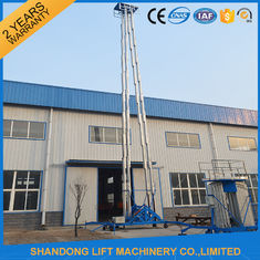 Hydraulic Mobile Telescopic Ladder Aerial Work Platform Lift With 150kgs Loading 19m Height
