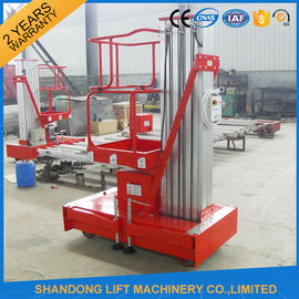 China Electric Telescopic Vertical Hydraulic Man Lift Equipment Light Duty 6m 100kg supplier
