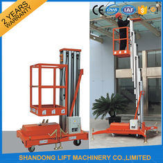 China Single Four Mast Aluminum Alloy Aerial Work Platform Lift For Aerial Work CE Hydraulic supplier