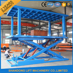 China Double Deck Car Parking System , Stable Scissor Hydraulic Portable Garage Car Elevator supplier