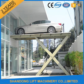 China 1 T - 20 T Automotive Hydraulic Scissor Car Lift for Ungerground Car Parking supplier