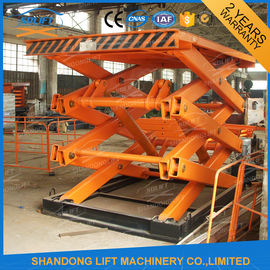 4T 7m Stationary Scissor Lift Table Vertical Cargo Lifting Elevator