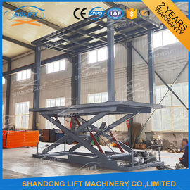 Underground Scissor Double Car Parking System Hydraulic Car Lift for 2 Cars