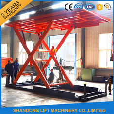 China Red 5T 3.5M Electric Hydraulic Scissor Car Lift for Car Parking supplier
