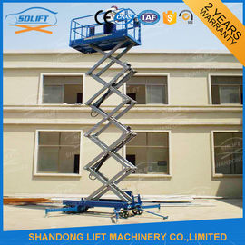 China 10m Movable Scissor Lift Table Hydraulic 4 Wheels Mobile Aerial supplier