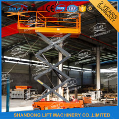 China 10m Self Propelled Elevating Work Platforms Battery Drive Mobile Scissor Lift supplier
