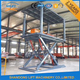 China Mechanical Inground Big Heavy Duty Double Scissor Lift Table 2 Car Parking Lift supplier