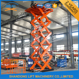 China 2T 7M CE Electric Stationary Hydraulic Scissor Lift / Material Handling Lifts supplier