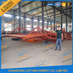 China 8T Container Loading Ramps / Industrial Loading Ramps 0.9m - 1.8m Lifting height supplier