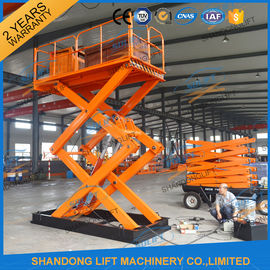 China 3T 5M Scissor Cargo Lift Hydraulic Scissor Lift Table With Safety Control Box CE supplier