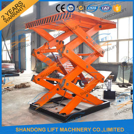 China Scissor Hydraulic Lift Platform , 2T 5.5M High Rising Material Handling Lifts CE TUV SGS supplier