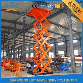 China 2T 7M Material Stationary Hydraulic Scissor Lift Table Warehouse Hydraulic Cargo Scissor Lift with CE supplier