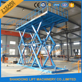 China 6T 5M Heavy Duty CE Hydraulic Scissor Lift Hydraulic Large Scissor Cargo Lift supplier