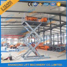 China CE 3T 4.5M Stationary Hydraulic Scissor Lift Table Scissor Lift Platform for Cargo Material supplier