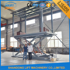 China Hydraulic Mobile Scissor Car Lift For Basement Cheap Car Lifts Garage Elevator supplier