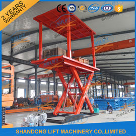 China 5T 3M Double Deck Car Parking System Lift Home Scissor Car Lift for 2 Car with CE TUV supplier