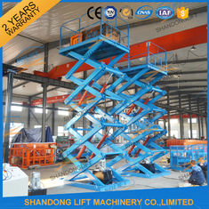 China 3.5T 7.5M Hydraulic Scissor Lift Platform Warehouse Material Handling Lift CE supplier