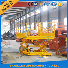 600KGS 2M Warehouse Hydraulic Cargo Scissor Lift with Movable Wheels