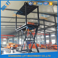 China 3T+3T 3M Double Deck Car Parking System , Double Platform Scissor Car Lift for Home Garage supplier