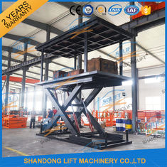 China 5T 3M Double Layer Hydraulic Scissor Car Lift For Villa Garage 2 Cars Parking Lift supplier
