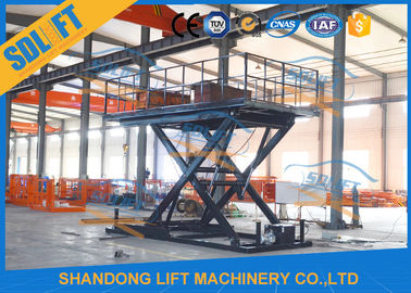 China 3T 3M Hydraulic Scissor Car Lift , Four Cylinder Car Hoists For Home Garage supplier