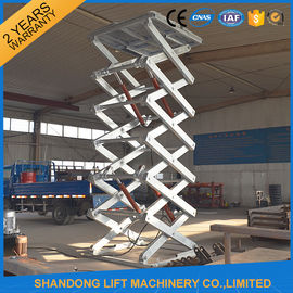 China Customized Hot Galvanizing Stationary Hydraulic Scissor Lift , Fixed Hydraulic Cargo Lift CE supplier