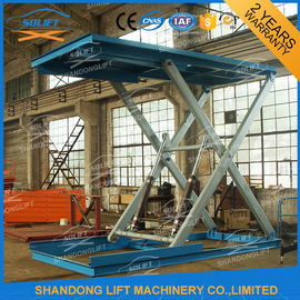 China 3T 3m Heavy Duty Hydraulic Scissor Car Lift , Automotive Scissor Lift supplier