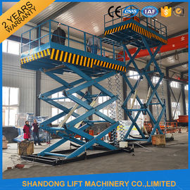 China 2T 7m Portable Stationary Hydraulic Scissor Lift Table High Strength Manganese Steel supplier