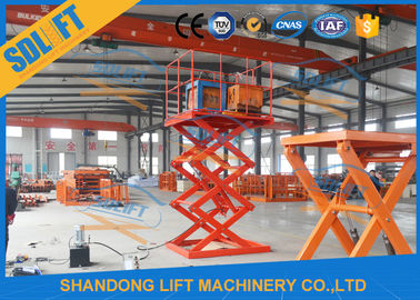 China 4000mm Lift Height Electric Scissor Lift Table , Hydraulic Scissor Lift For Cargo supplier