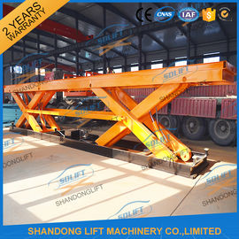 China 8T Electrical Hydraulic Scissor Heavy Duty Lift Tables Elevating Platform With Jack Lift supplier
