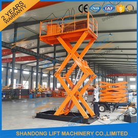 China 5T 3.5M Stationary Hydraulic Scissor Lift , Scissor Lifting Platform supplier