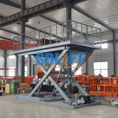China Heavy Duty Hydraulic Scissor Car Lift Table For Home Garage Car Parking Lifting supplier