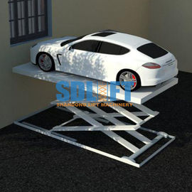 China 3T 5.6M Hydraulic Scissor Car Lift For Home Garage Portable / Heavy Duty Scissor Lift Table supplier