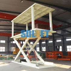 China 2T 3m Hydraulic Scissor Type 2 Car Parking Lift form Basement to Ground Level supplier