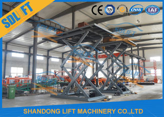 China 5.5M Basement Stationary Type Hydraulic Scissor Car Lift Long Life Time supplier