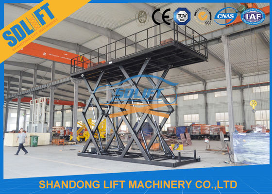 China 8T Double Scissors Hydraulic Cargo Lift Heavy Duty Large Lifting Platform with CE supplier
