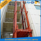China CE 5.5m Vertical Hydraulic Elevator Lift with Guide Rail Checkered steel plate Platform factory