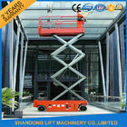 China Battery Powered Self Propelled Scissor Lift Platform for Aerial Installation / Maintenance Working company